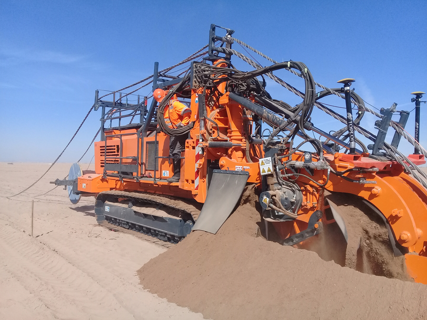 Tesmec Marais ST2 Rocksaw Trencher for Mechanical Cable Laying