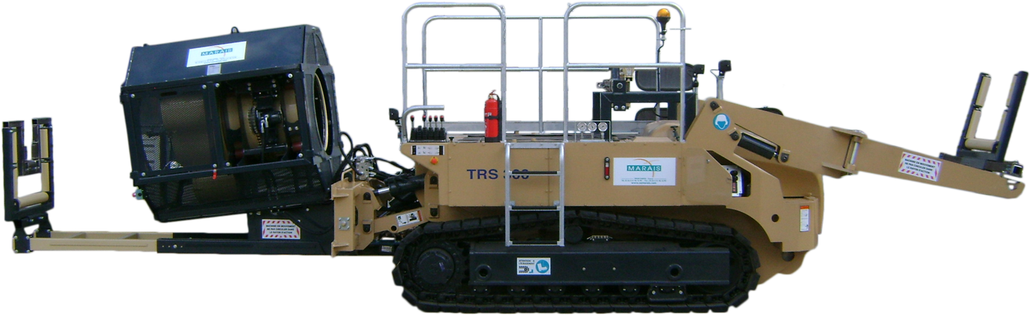 Tesmec Wrapping Machine for Mechanical Cable Laying