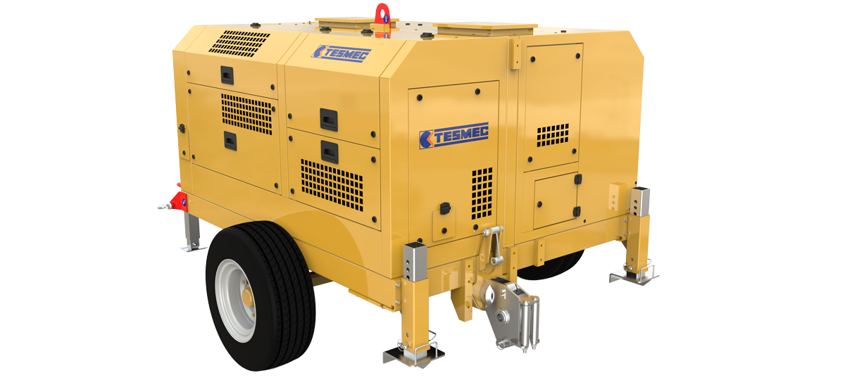 Tesmec Continuous Linear Puller for Reconductoring Operations