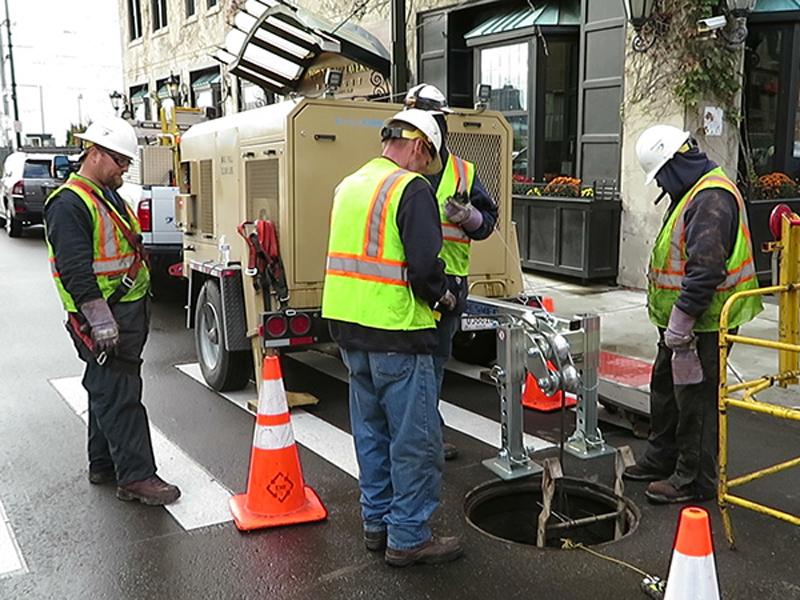 Tesmec Ecologic Solution for Underground Stringing Operations