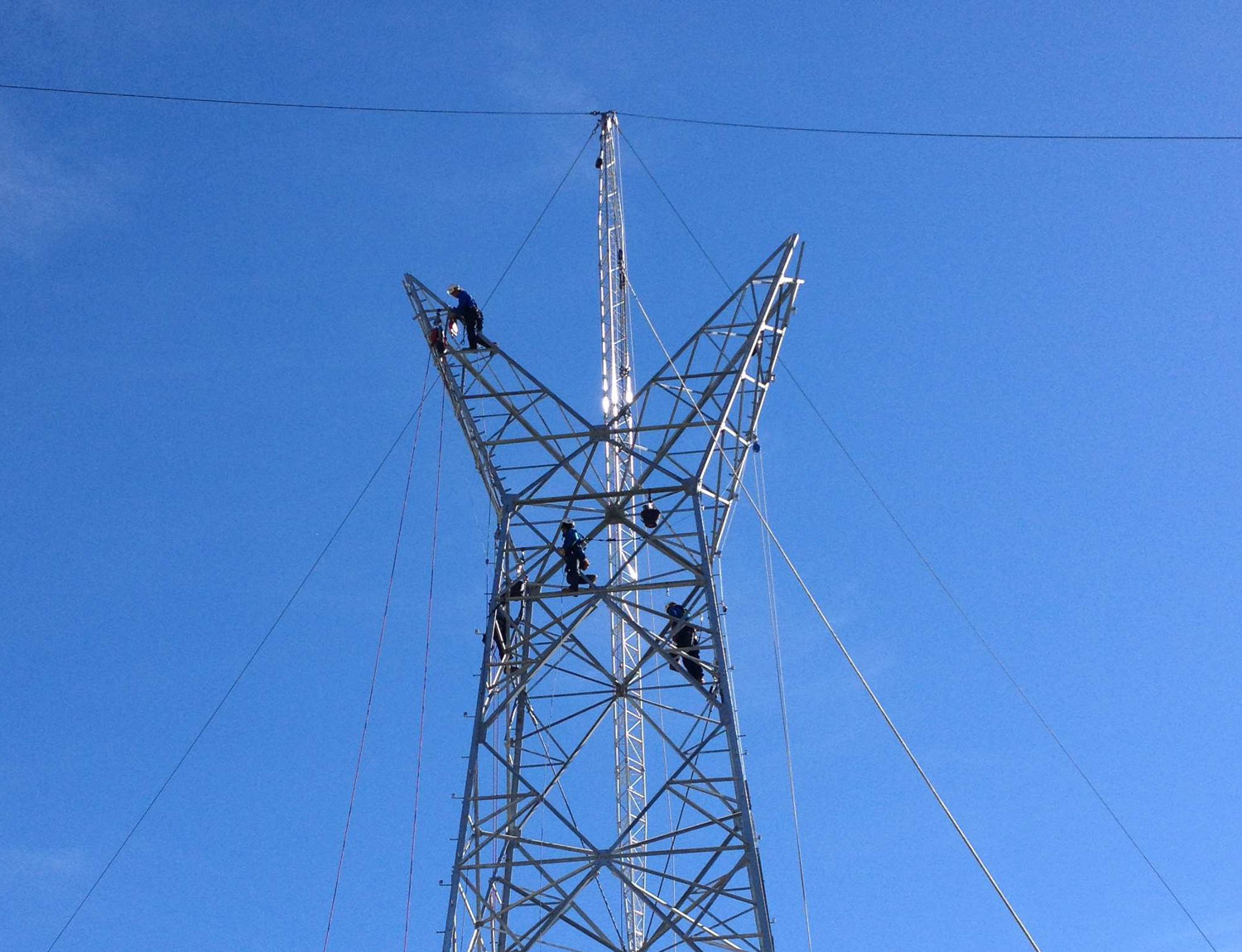 Tesmec Stringing Powerline Tower Construction