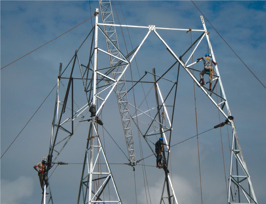 Tesmec Stringing Electric Powerline Building