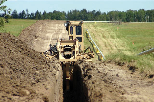 Tesmec 1075 Bucket Wheel Trencher for agricultural application