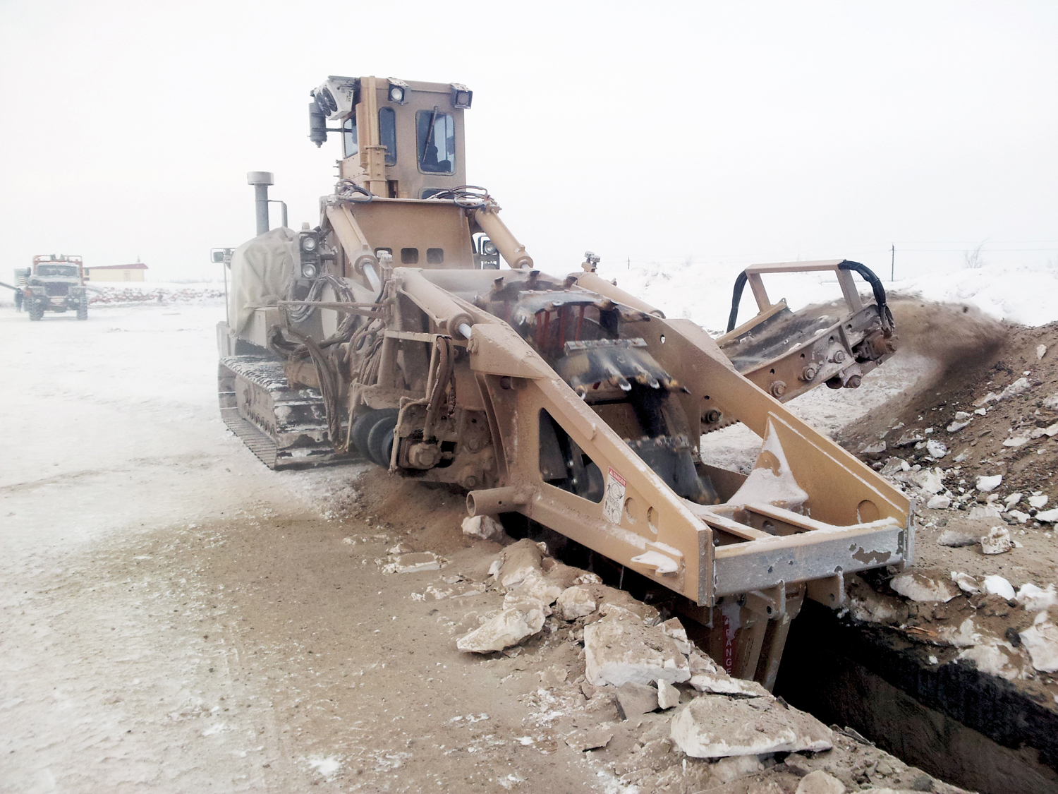 Tesmec 1075 Bucket Wheel Trencher for dirt and rocky soils excavation