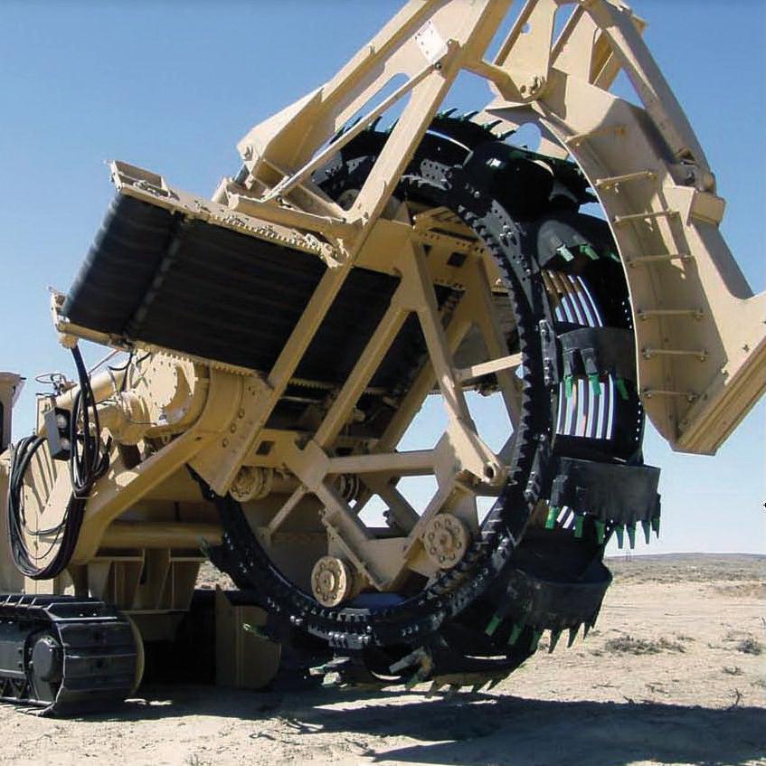 Tesmec 1475XL EVO Bucket Wheel Trencher for dirt and rocky soils excavation
