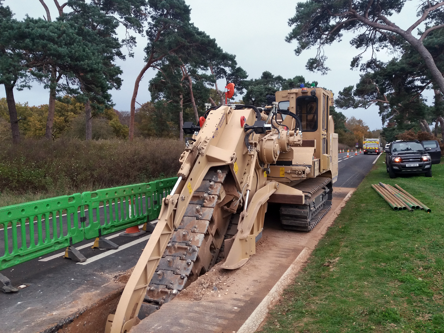 Tesmec 985 Chainsaw Trencher conceived to satisfy all ranges of customers