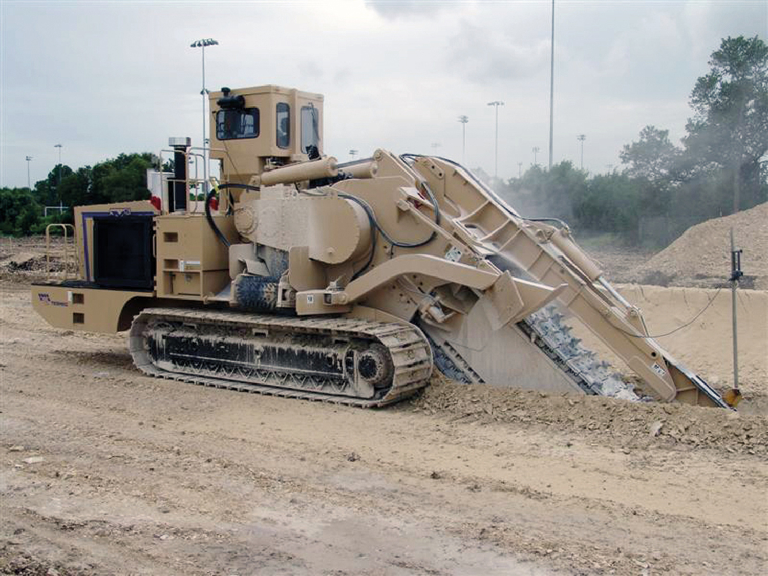 Tesmec M5 Chainsaw Trencher for hard rock excavation