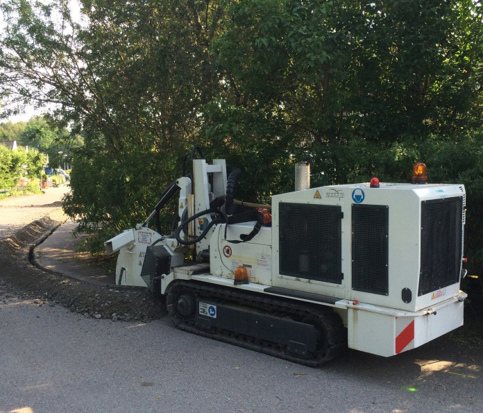 Compact remote controlled Trencher for Urban Jobsites Marais SC3C