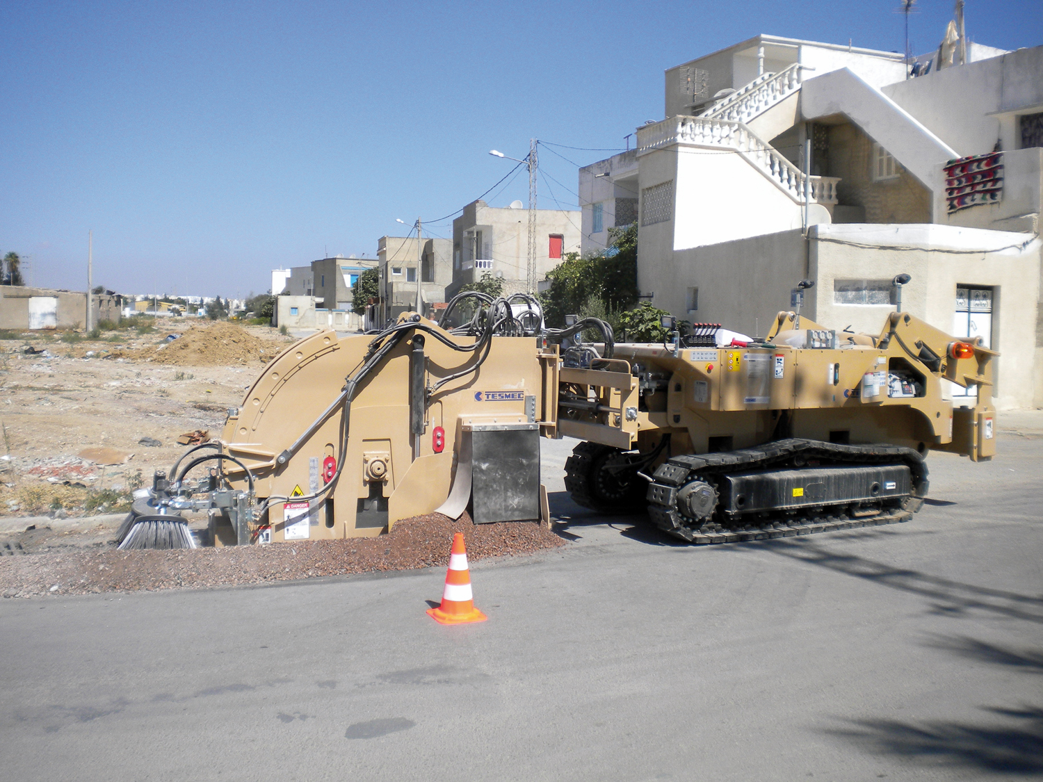Compact Remote Controlled Trencher Tesmec 300
