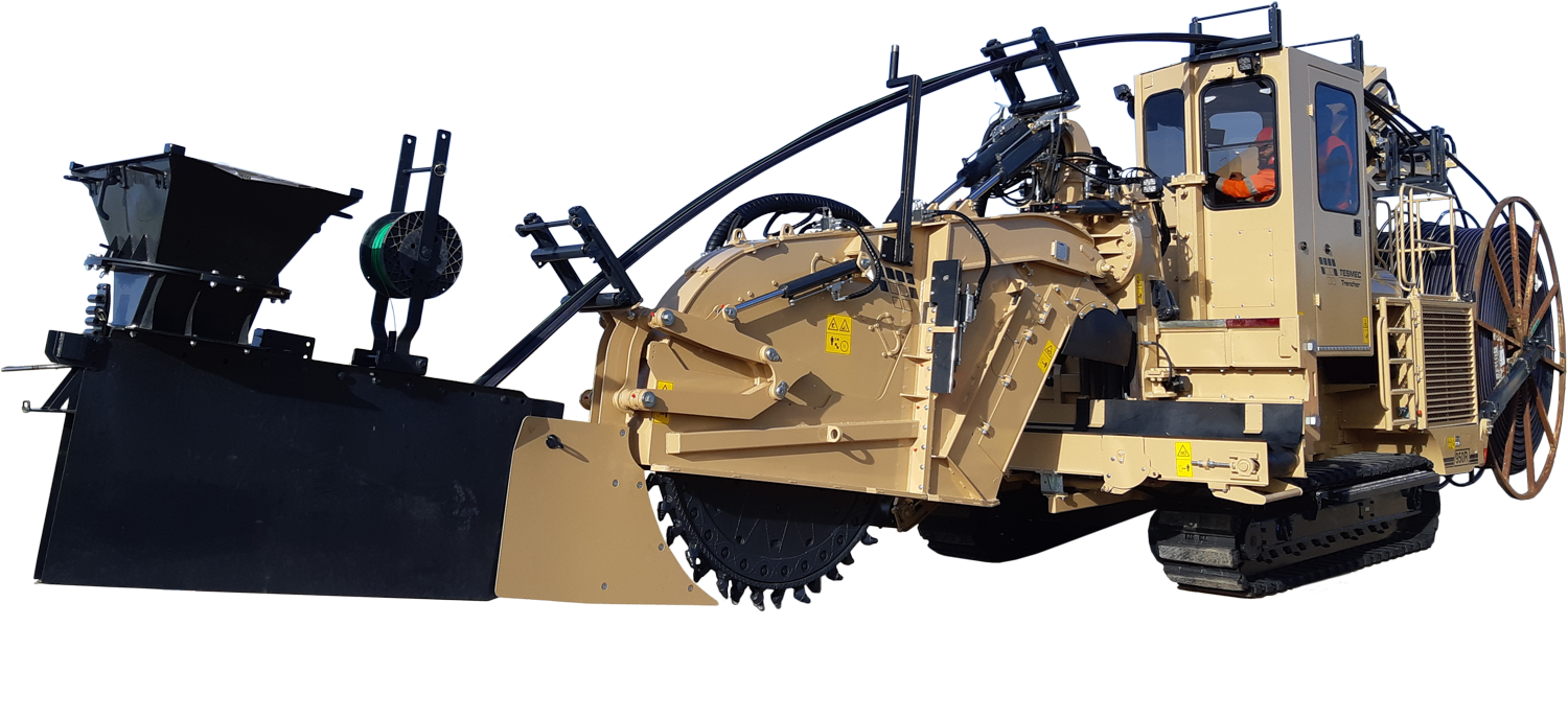 Tesmec 950R T620 Trencher for Mechanical Cable Laying