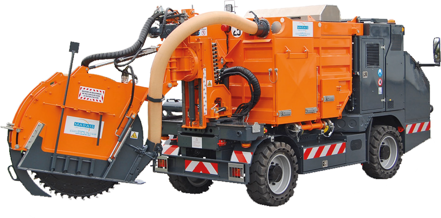 Tesmec Marais CityCleanfast Wheel Trencher with Integrated Vacuum System