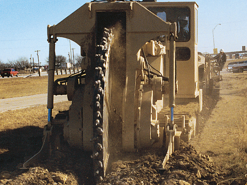 Tesmec 1075 Trencher for Underground Energy Cable Projects