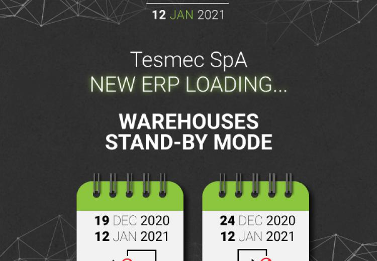 Tesmec S.p.A. ERP loading... Warehouses stand-by mode